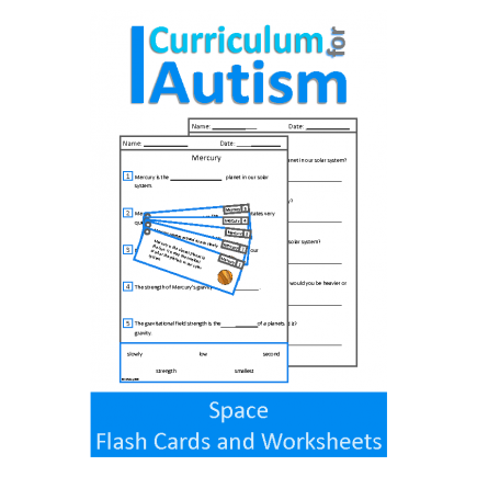 Solar System Space Comprehension Flashcards and Worksheets