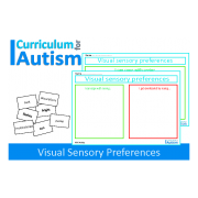 Autism Visual Preferences, Cut & Paste Sorting Activity, FREEBIE