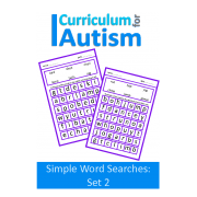 Simple Wordsearch Puzzles, Nouns & Verbs