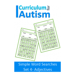 Adjectives Large Print Wordsearch Puzzles