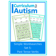 Past Tense Verbs Simple Wordsearch Puzzles