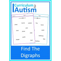 Find The Digraphs Phonics Worksheets