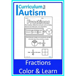 Fractions Color & Learn Visual Notes
