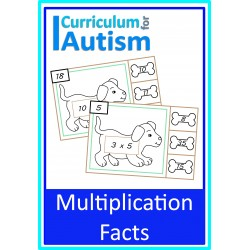 Multiplication Times tables facts Clip Cards