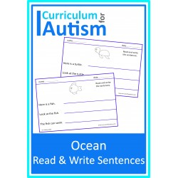 Read Write Sentences Ocean Theme