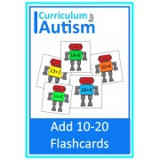 Robot Addition 10 - 20 Flashcards