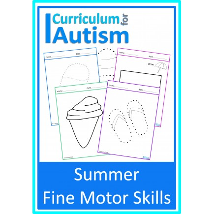 Summer Theme Fine Motor Skills Worksheets
