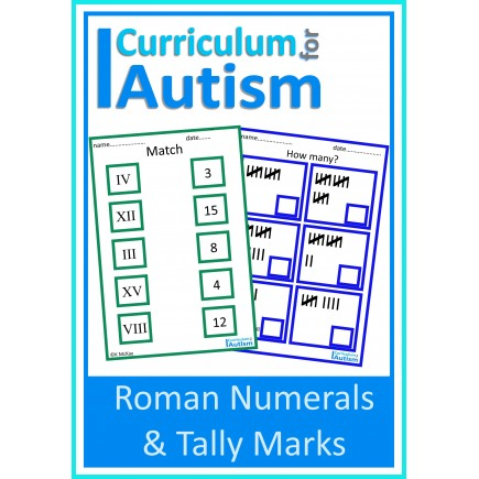 Roman Numerals & Tally Marks Match and Count, Life Skills Math