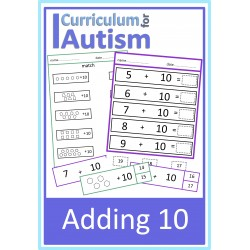 Adding 10 Worksheets & Clip Cards Set