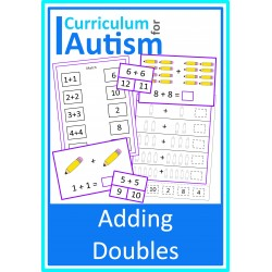 Adding Doubles Cards & Worksheets