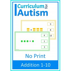 Addition 1-10 NO PRINT Paperless Activity