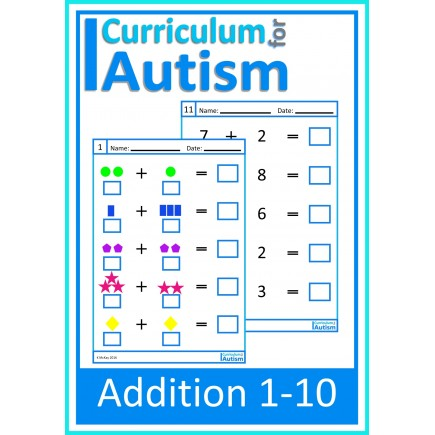 Addition 1-10 Worksheets