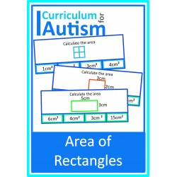 Area of Rectangles Clip Cards (Metric)