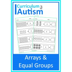 Arrays & Equal Groups Worksheets