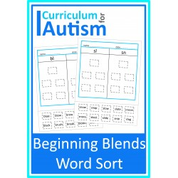 Beginning Blends Word Sort