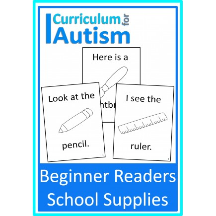 Beginner Readers Books- School Supplies