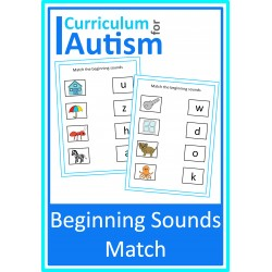 Beginning Sounds Phonics Picture Match