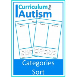 Category Sort Cut & Paste Vocabulary Worksheets