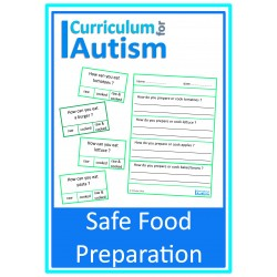Safe Food Preparation Cards & Worksheets
