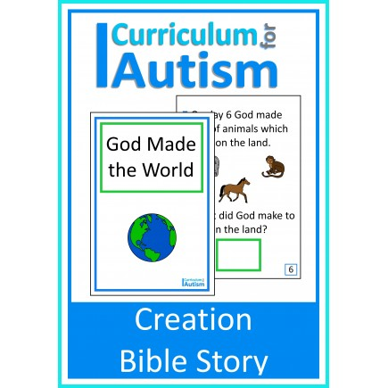 Creation Bible Story Interactive Adapted Book