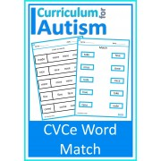 CVCe Word Match No Prep Worksheets