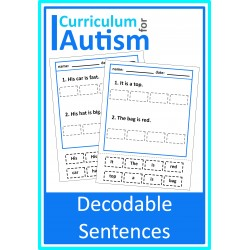 Decodable Sentences Cut & Paste