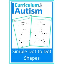 Simple Dot To Dot Shapes Worksheets