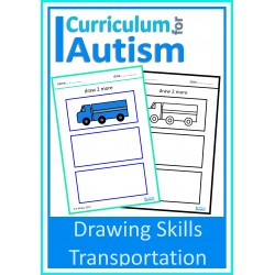 Transportation Drawing Skills Sheets