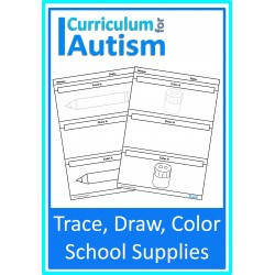 School Supplies Trace, Draw & Color