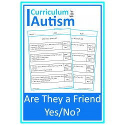 Who Is A Friend? Social Skills Worksheets