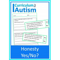 Honesty Yes or No cards & worksheets