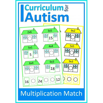 Multiplication Match Up Times Tables Task Cards