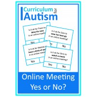 Online Meeting Yes No Social Skills Cards
