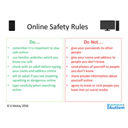 Online Safety Rules for Teens, FREE