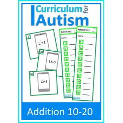Addition 10-20 Task Cards