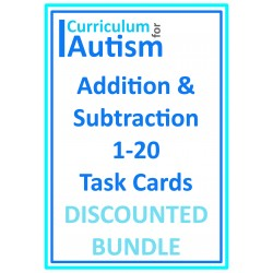 Phone Theme Addition & Subtraction 1-10 Task Cards BUNDLE