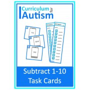 Phone Theme Subtraction 1 - 10 Task Cards