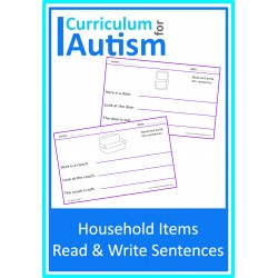 Read & Write Simple Sentences - Household Theme