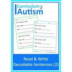 Read & Write Decodable Sentences (set 2)