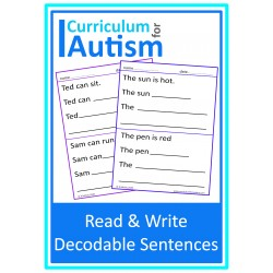 REad & Write Decodable Sentences