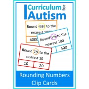Rounding to Nearest 10, 100, 1000, Clip Cards