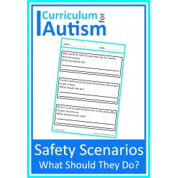 "Safety ""What should they do?"" Worksheets"