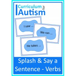 Say a Sentence Puddle Prompts - Verbs