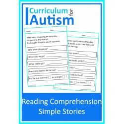 Reading Comprehension Simple Stories Worksheets
