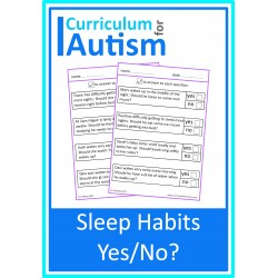 Healthy Sleep Habits Worksheets