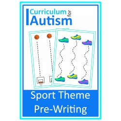 Sports Theme Pre-Writing Write & Wipe