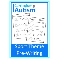 Sports Pre-Writing Worksheets
