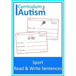 Read Write Sentences Sports Theme