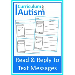 Text Messages Read and Write Replies Worksheets