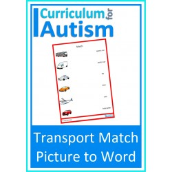 Transportation / Vehicles Picture to Word Match